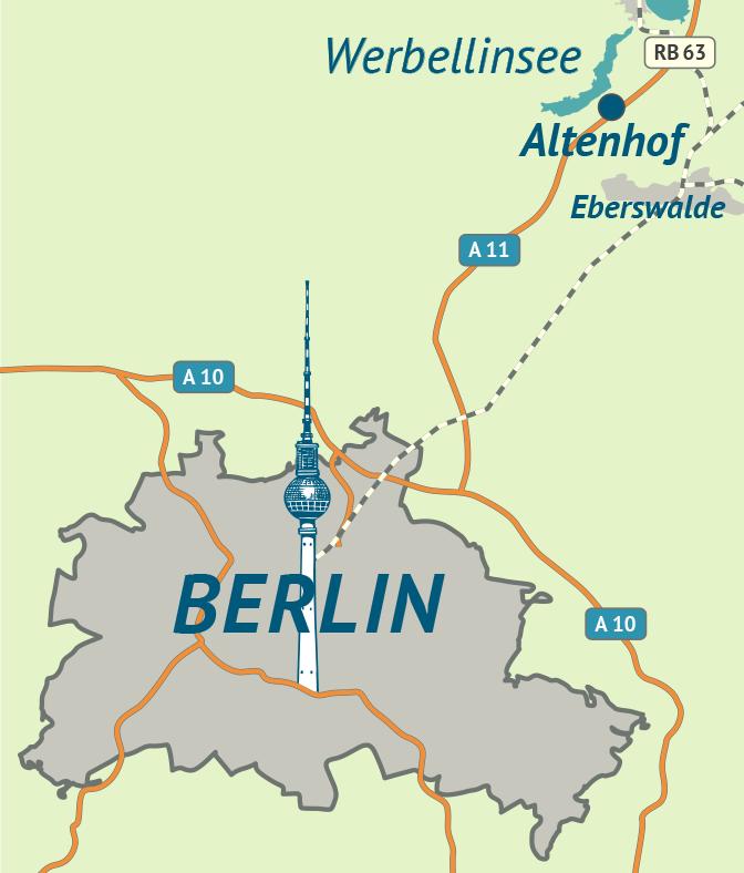 Grafik Landkarte Berlin – Werbellinsee