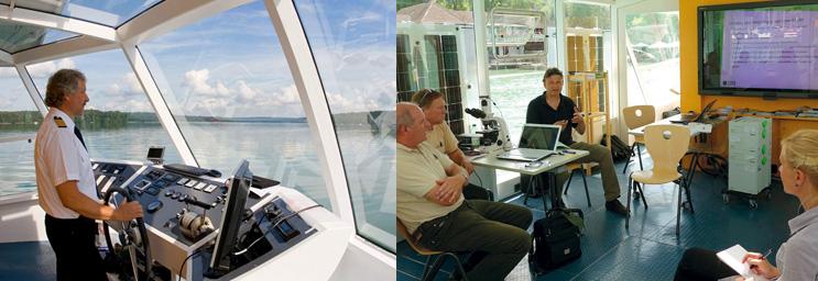 Fotos: Kapitän und Seminarraum