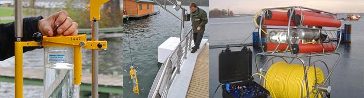 Fotos: Wasserschöpfer, Geräte-Davit und Unterwasserkamera