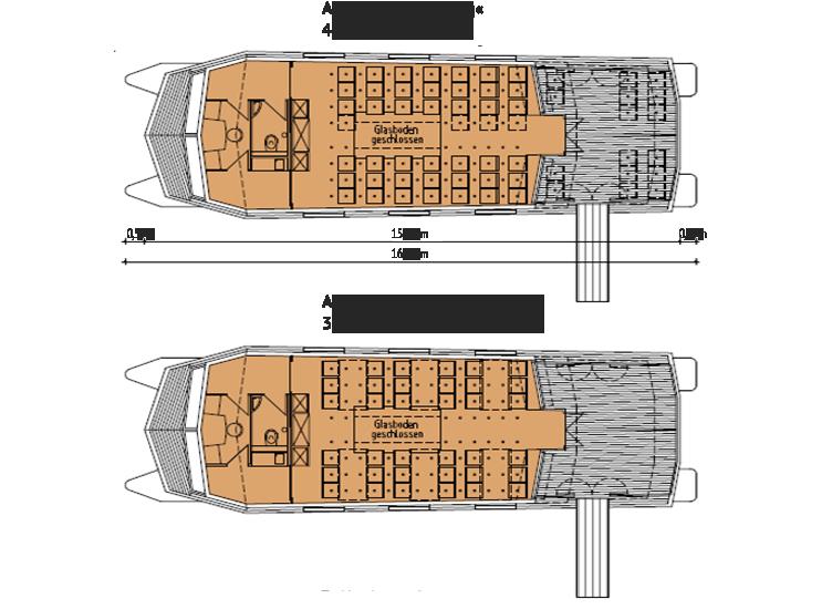 Grafik: Übersicht der Anordnung der Inneneinrichtung