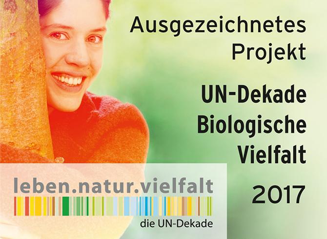 Auszeichnung UN-Dekade Biologische Vielfalt 2017