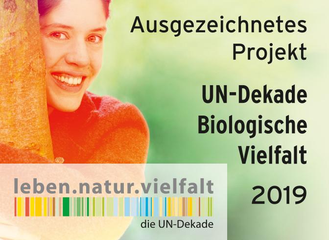 Auszeichnung UN-Dekade Biologische Vielfalt 2019